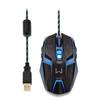 Mouse Gamer Warrior Ambidestro 4000dpi - USB (MO252)