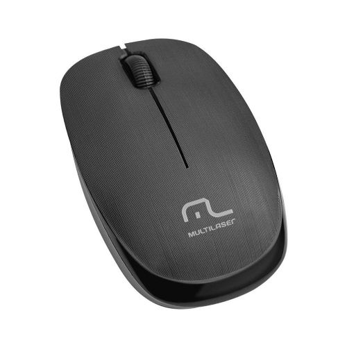 Mouse USB Sem Fio 1200dpi 2.4Ghz Multilaser - Preto (MO251)