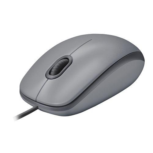 Mouse USB 1000dpi Cinza Logitech M110 Silent