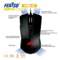 Mouse USB GAMER 2400dpi Preto Feasso (FAMO-15)