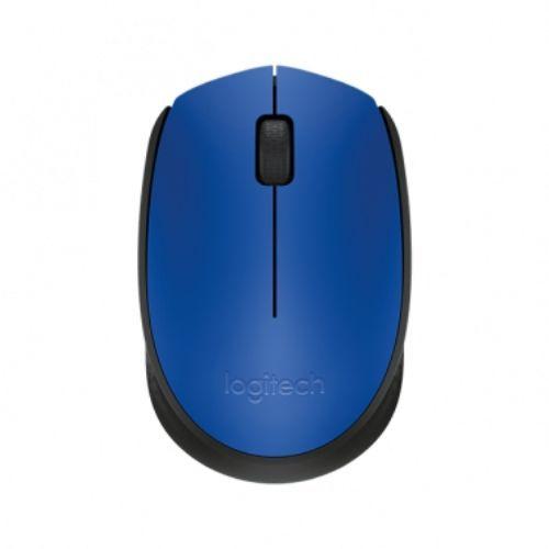 Mouse USB Sem Fio 1000dpi Azul Logitech M170
