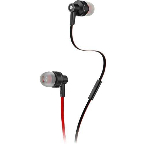 Fone de Ouvido com microfone Pulse Intra Auricular Preto/Vermelho - PH154