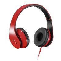 Fone de Ouvido Multilaser com Microfone - Vermelho/Preto - P2 (PH112)