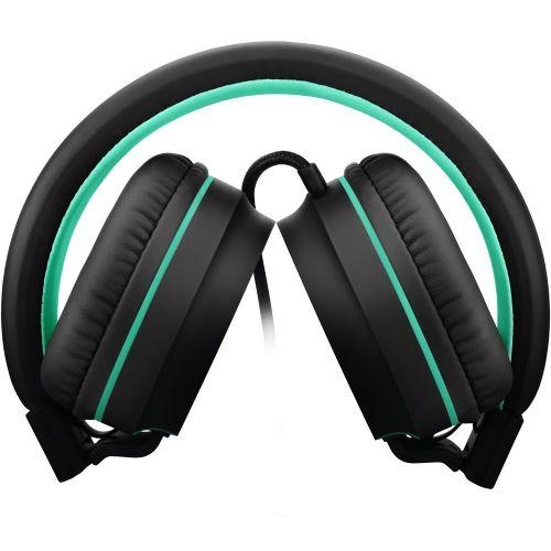 Fone de Ouvido com Microfone - Pulse - Preto/Verde - P2 (PH159)