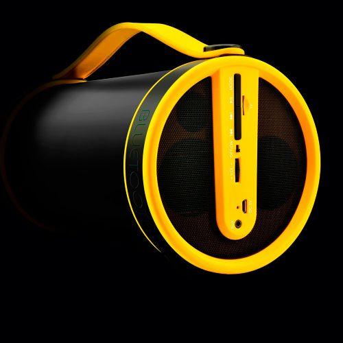 Caixa de Som Bluetooth Pulse Bazooca (SP-222) - Preta / Amarela