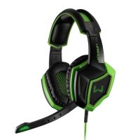 Fone com Microfone GAMER Warrior 7.1 Preto / Verde - PH224
