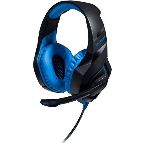Fone com Microfone GAMER Warrior 2.0 com LED USB Preto e Azul PH244
