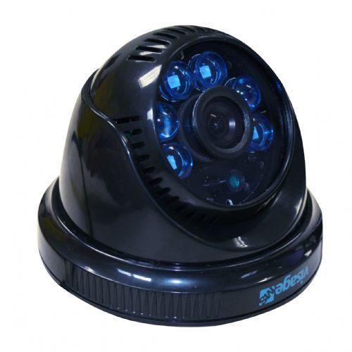 Câmera CCD Dome Visage MS 420 linhas IR10/15M 3.6mm Preta Sony 1/3 - VMS42036DMP