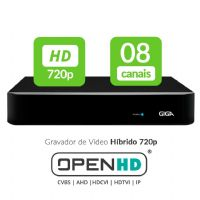 HVR 08 Canais OPEN HD - GIGA (GS08OPENHD)