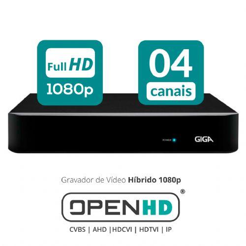 HVR 04 Canais OPEN HD 1080P FullHD - GIGA (GS04OPENFHD)