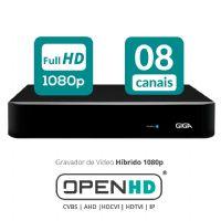 HVR 08 Canais OPEN HD 1080P FullHD - GIGA (GS08OPENFHD)