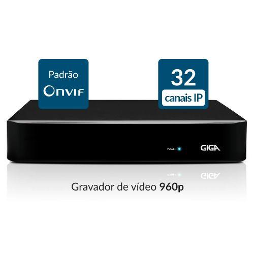NVR 32 Canais 960p IP - GIGA (GS32NVR)