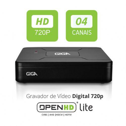 DVR 04 Canais OPEN HD Lite -  GIGA (GS0082)
