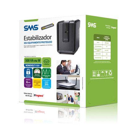 Estabilizador SMS Revolution Speedy 500va Mono 115v (15971)