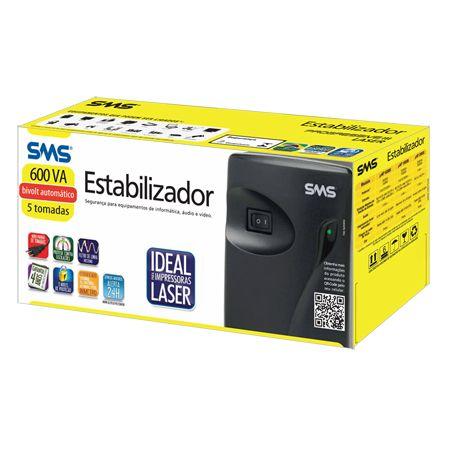 Estabilizador SMS Progressive III Laser 600va Bivolt ( PN 16215 )