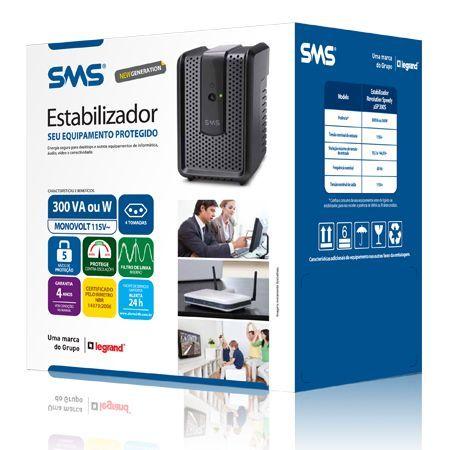 Estabilizador SMS Revolution Speedy 300va 115v ( PN 16520 )