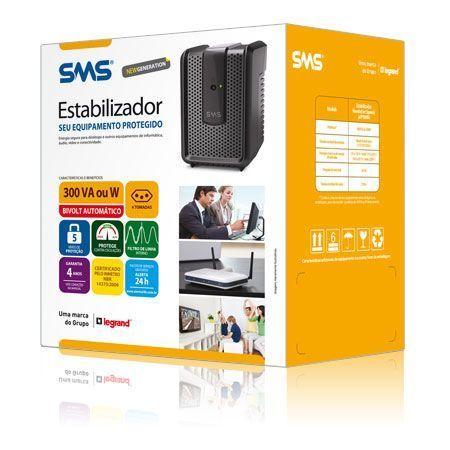 Estabilizador SMS Revolution Speedy 300va Bivolt ( PN 15970 )