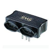 Carregador 2 USB + 2 Tomadas SMS - Preto (62332)