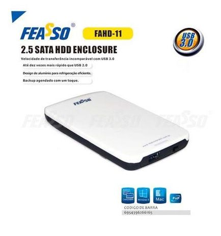 Case externo para HD de note 2.5 USB 3.0 Feasso FAHD-11