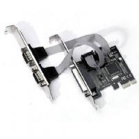 Placa PCI-Express x1 com 2 Portas Seriais + 1 Porta Paralela - Feasso (low profile)