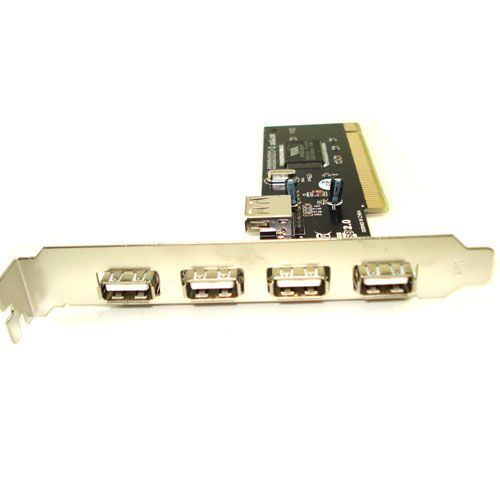 Placa PCI com 4 Portas USB 2.0 - Stock