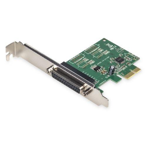 Placa PCI-Express x1 com 1 Paralela  Feasso - JPP-03 (com espelho para perfil baixo)