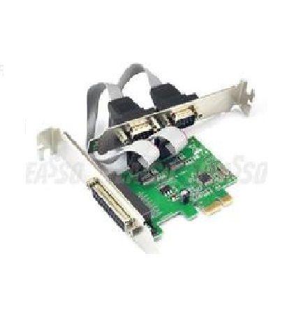 Placa PCI-E X1 C/ 2 Portas Seriais +1 Porta Paralela Feasso JPP-04