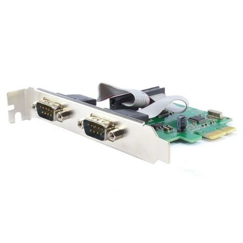 Placa PCI-Express x1 com 2 Portas Seriais Feasso JPSS-02 (com espelho para perfil baixo)
