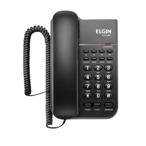 Telefone com fio TCF 2200 PRETO - ELGIN