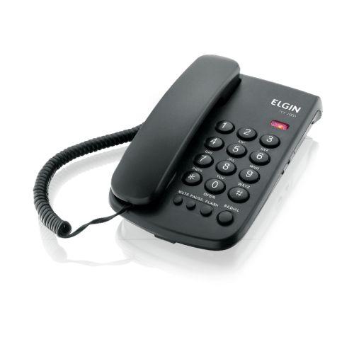 Telefone com fio TCF 2000 PRETO - ELGIN
