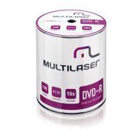 Midia DVD-R 4.7GB / 120m / 16x - com 100 Unidades - Shrink - Multilaser (DV037)