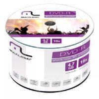Mídia DVD R Multilaser 4.7GB / 16x - 50 unidades Shrink (DV060)