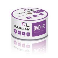 Mídia DVD R Printable Multilaser 4.7GB / 120 minutos 08x - 50 unidades (DV052)