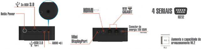MICROCOMPUTADOR LIVA ZE INTEL DUAL CORE 4GB 500GB LINUX
