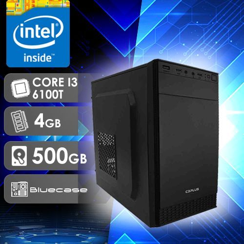 NFX PC I3 6100T - 245 ( CORE I3 6100T / HD 500GB / 4GB RAM / MB BLUECASE )