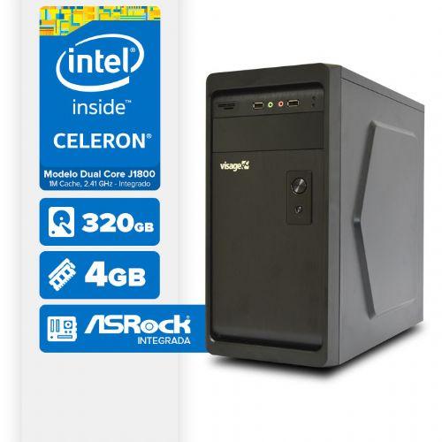 VISAGE PC BLANC D1800 - 243R (CELERON J1800 / 4GB RAM / HD 320GB / LINUX)