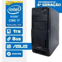 VISAGE PC BLEU I7 4790 - 281TAD (CORE I7 4790  / 8GB RAM / HD 1TB / DVD-RW / MB ASUS / LINUX)