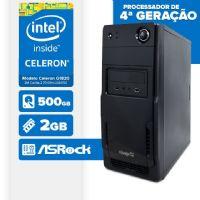 VISAGE PC BLEU G1820 - 225R ( Celeron G1820 / 2GB / 500GB / MB ASROCK / LINUX )