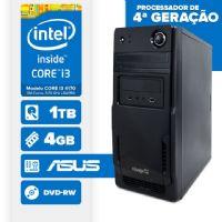 Visage PC BLEU I3 4170 - 241TAD ( Core I3 4170 / 4GB / 1TB / MB ASUS / DVD-RW / LINUX )