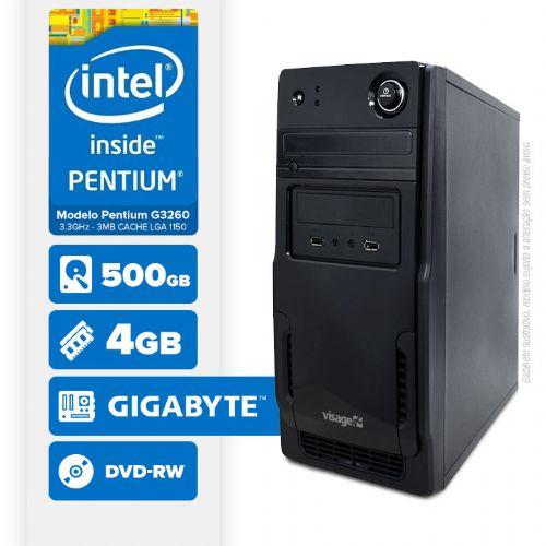 VISAGE PC BLEU G3260 - 245GD ( Pentium G3260 / 4GB / 500GB / MB GIGABYTE / DVD-RW / LINUX )