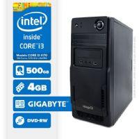 Visage PC BLEU I3 4170 - 245GD ( Core I3 4170 / 4GB / 500GB / MB GIGABYTE / DVD-RW / LINUX )