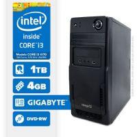 Visage PC BLEU I3 4170 - 241TGD ( Core I3 4170 / 4GB / 1TB / MB GIGABYTE / DVD-RW / LINUX )