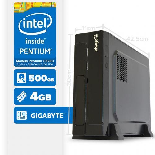VISAGE PC BLEU G3260 - 145G SLIM ( Pentium G3260 / 4GB / 500GB / MB GIGABYTE / LINUX )