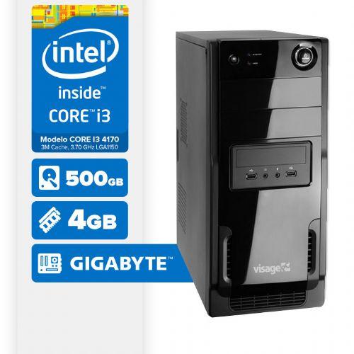 Visage PC BLEU I3 4170 - 445G ( Core I3 4170 / 4GB / 500GB / MB GIGABYTE / LINUX )