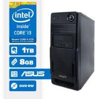 Visage PC BLEU I3 4170 - 281TAD ( Core I3 4170 / 8GB / 1TB / MB ASUS / DVD-RW / LINUX )