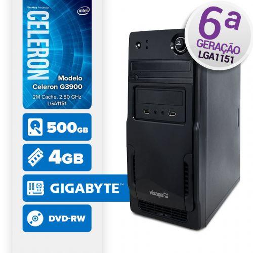VISAGE PC BLEU G3900 - 245GD ( Celeron G3900 / 4GB / 500GB / MB GIGABYTE / DVD-RW / LINUX )