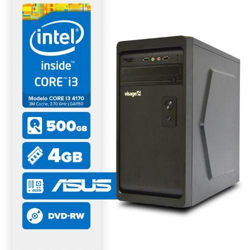Visage PC BLEU I3 4170 - 245AD ( Core I3 4170 / 4GB / 500GB / MB ASUS / DVD-RW / LINUX )