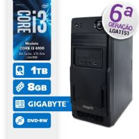 VISAGE PC BLEU I3 6100 - 281TGD (CORE I3 6100 / 8GB RAM / HD 1TB / DVD-RW / MB GIGABYTE / LINUX)