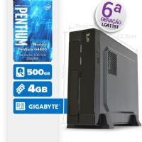 VISAGE PC BLEU G4400 - 145G SLIM ( Pentium G4400 / 4GB / 500GB / MB GIGABYTE / LINUX )