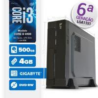 VISAGE PC BLEU I3 6100 - 145GD SLIM ( CORE I3 6100 / 4GB / 500GB / MB GIGABYTE / DVD / LINUX )